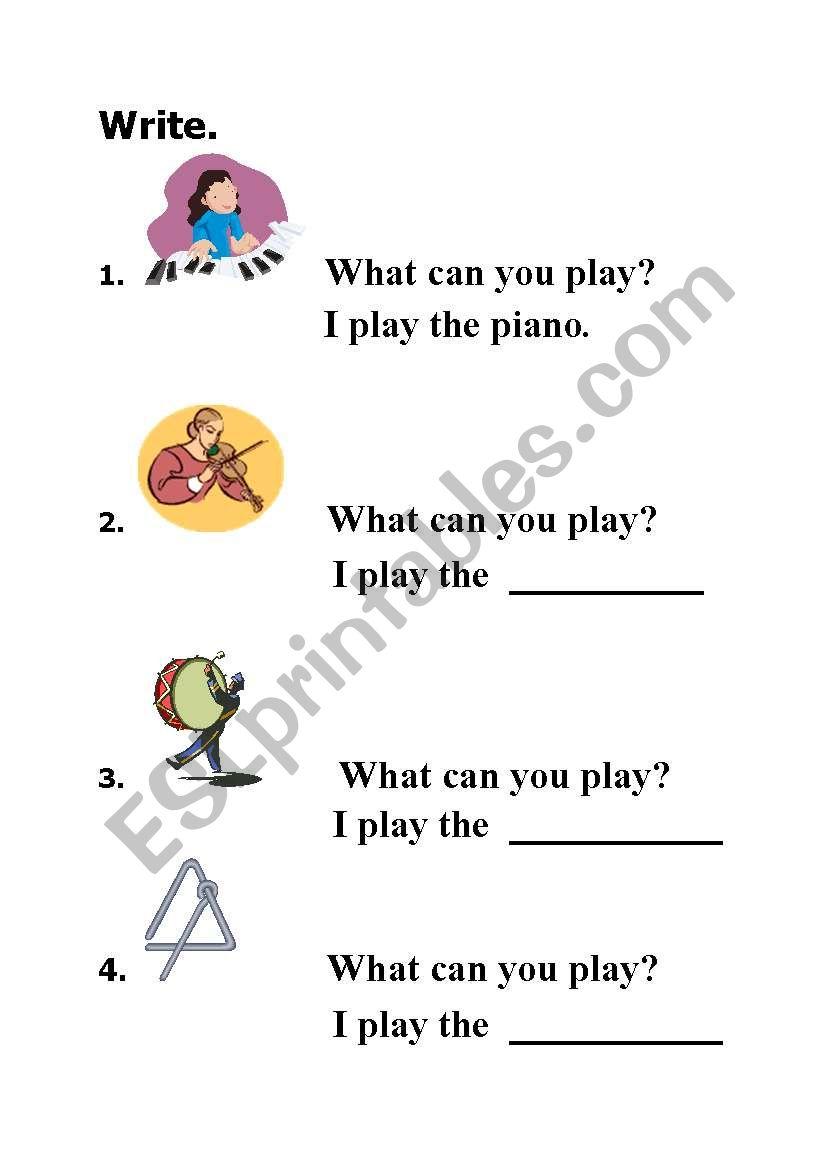 english worksheets i am the music man