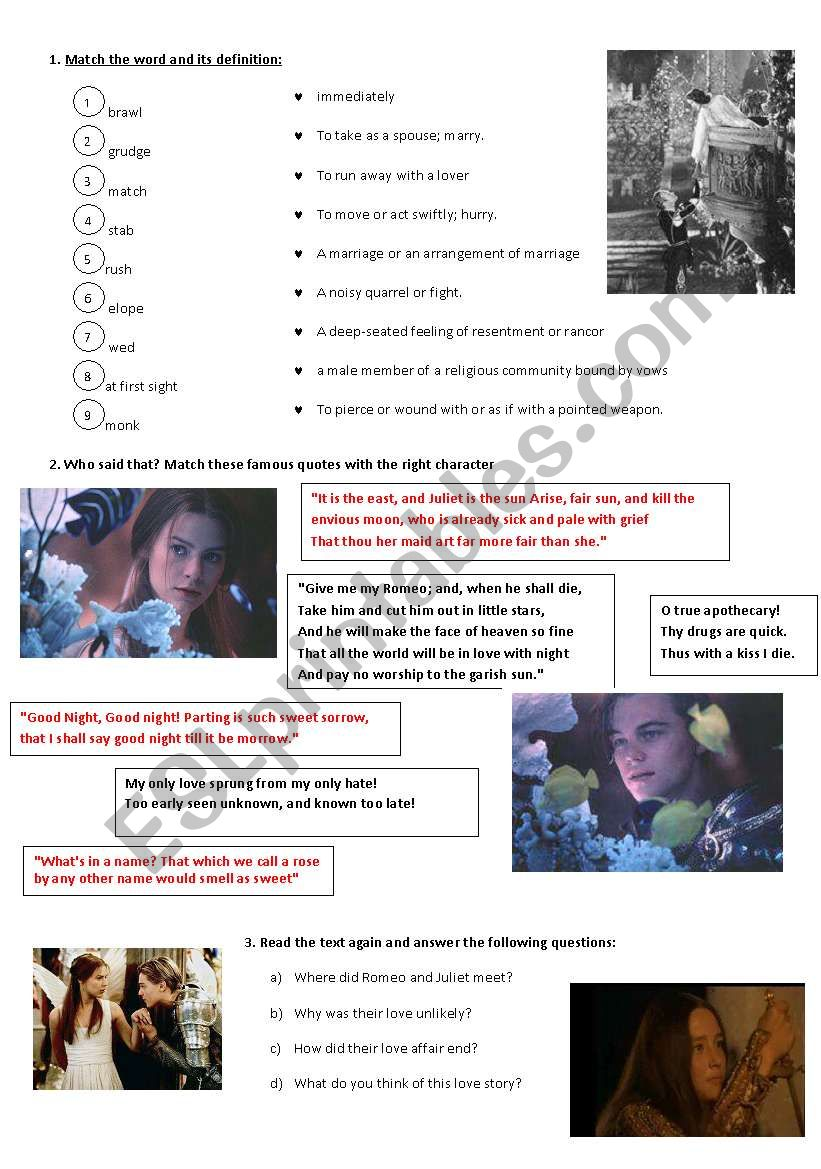 Romeo and Juliet - the newspaper article! part2