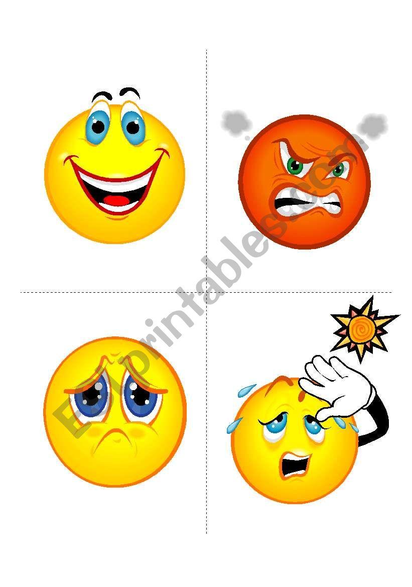 Feelings Flashcards worksheet