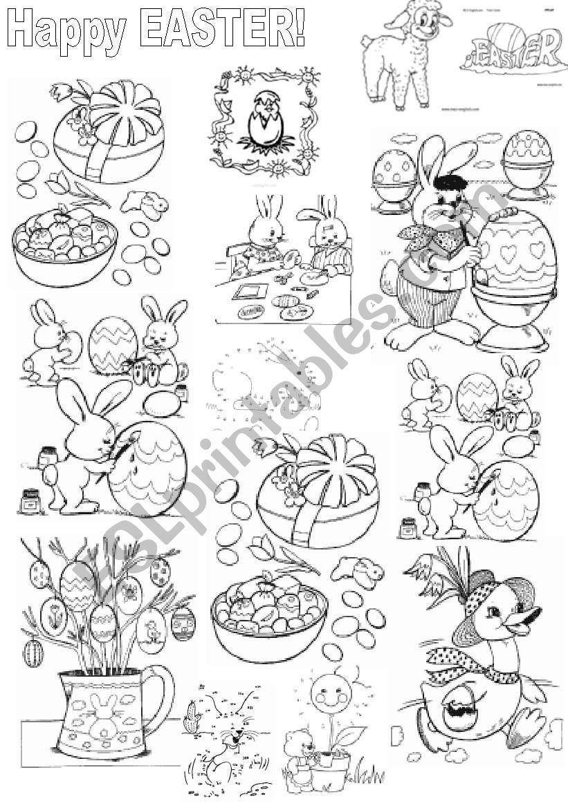 Easter colouring worksheet