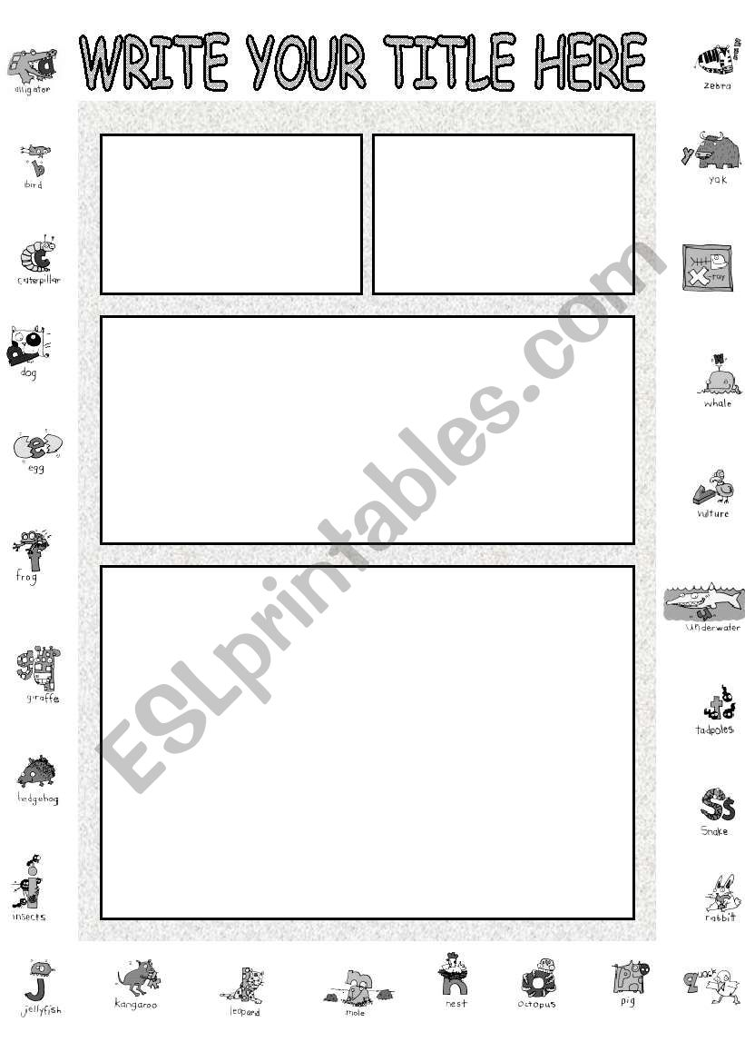 ALPHABET TEMPLATE worksheet