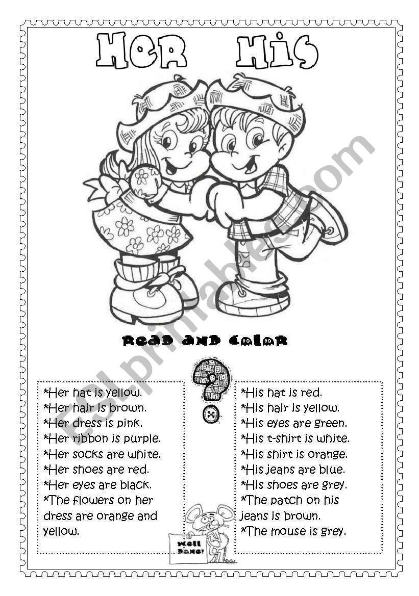 Her or His (printer friendly) worksheet