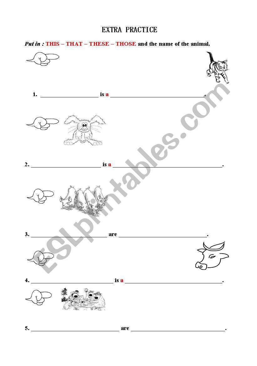 This That These Those Esl Worksheet By Closeuponenglish4
