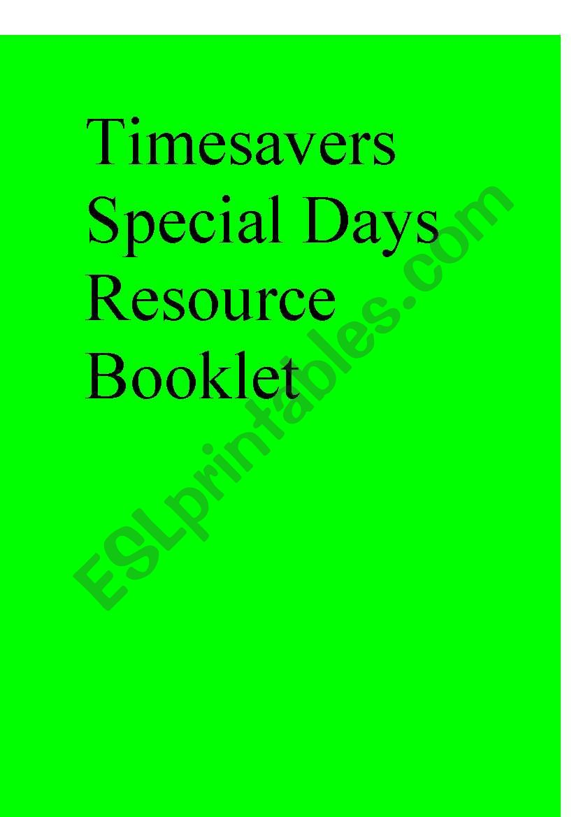Timesavers Special Days Resource Booklet