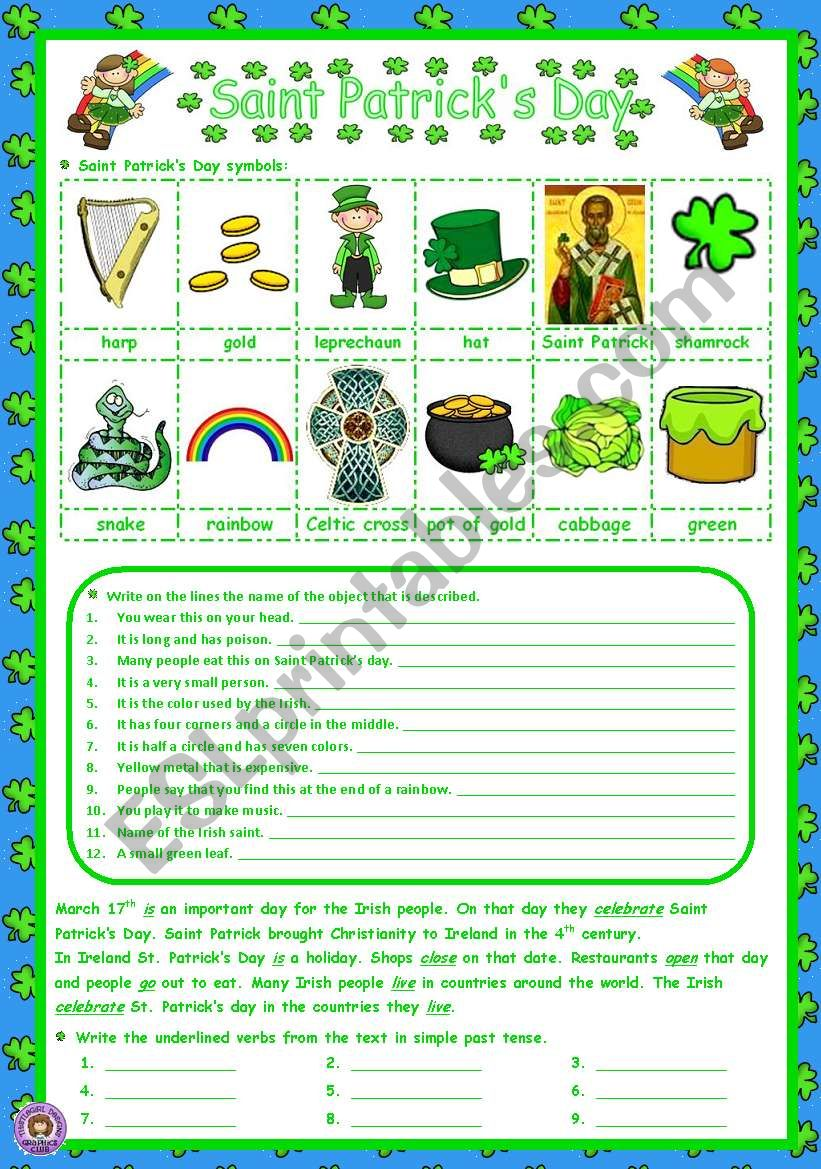 SANT PATRICK´S DAY - Introduction
