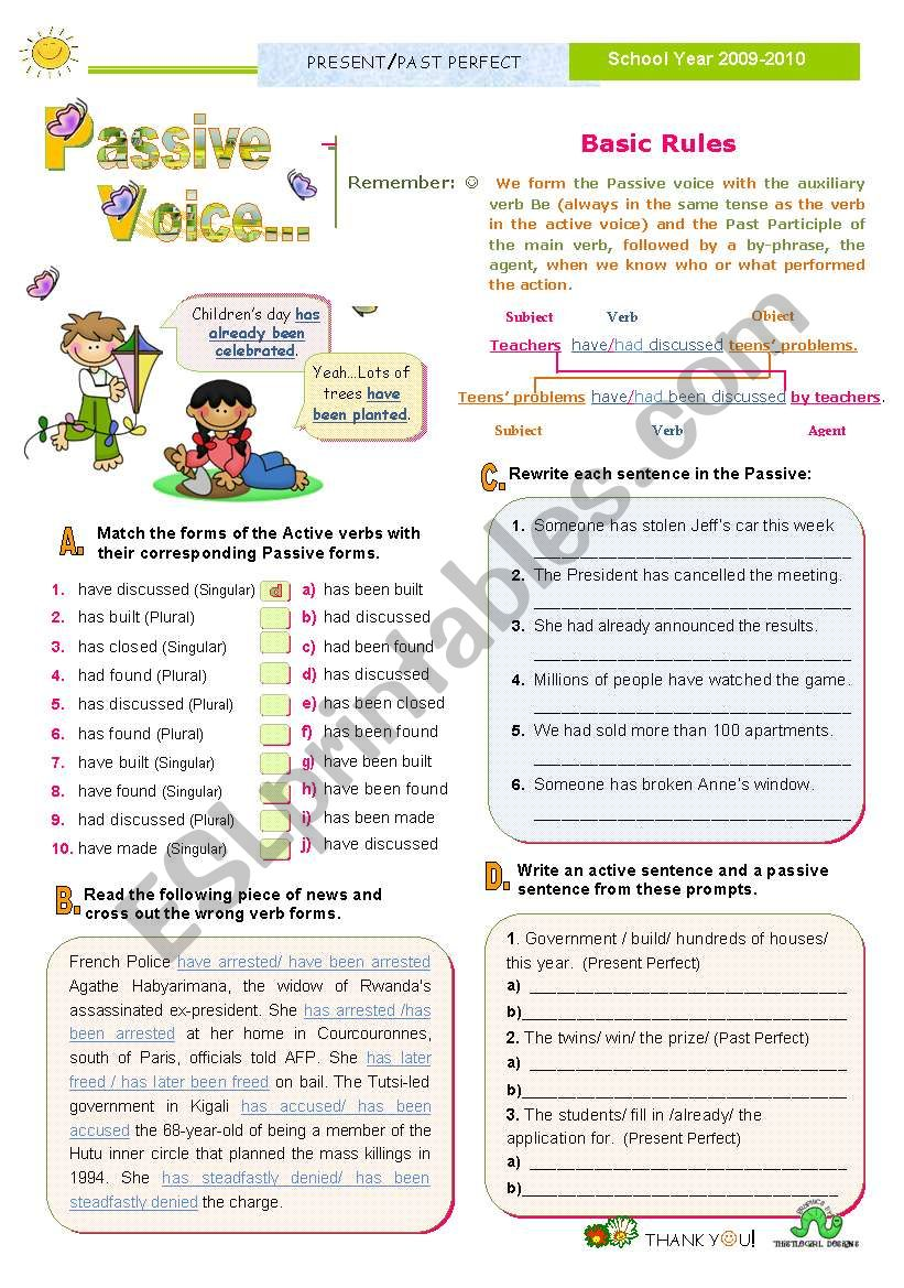 Introducing the Passive Voice Series (3) - Present Perfect plus Past Perfect
