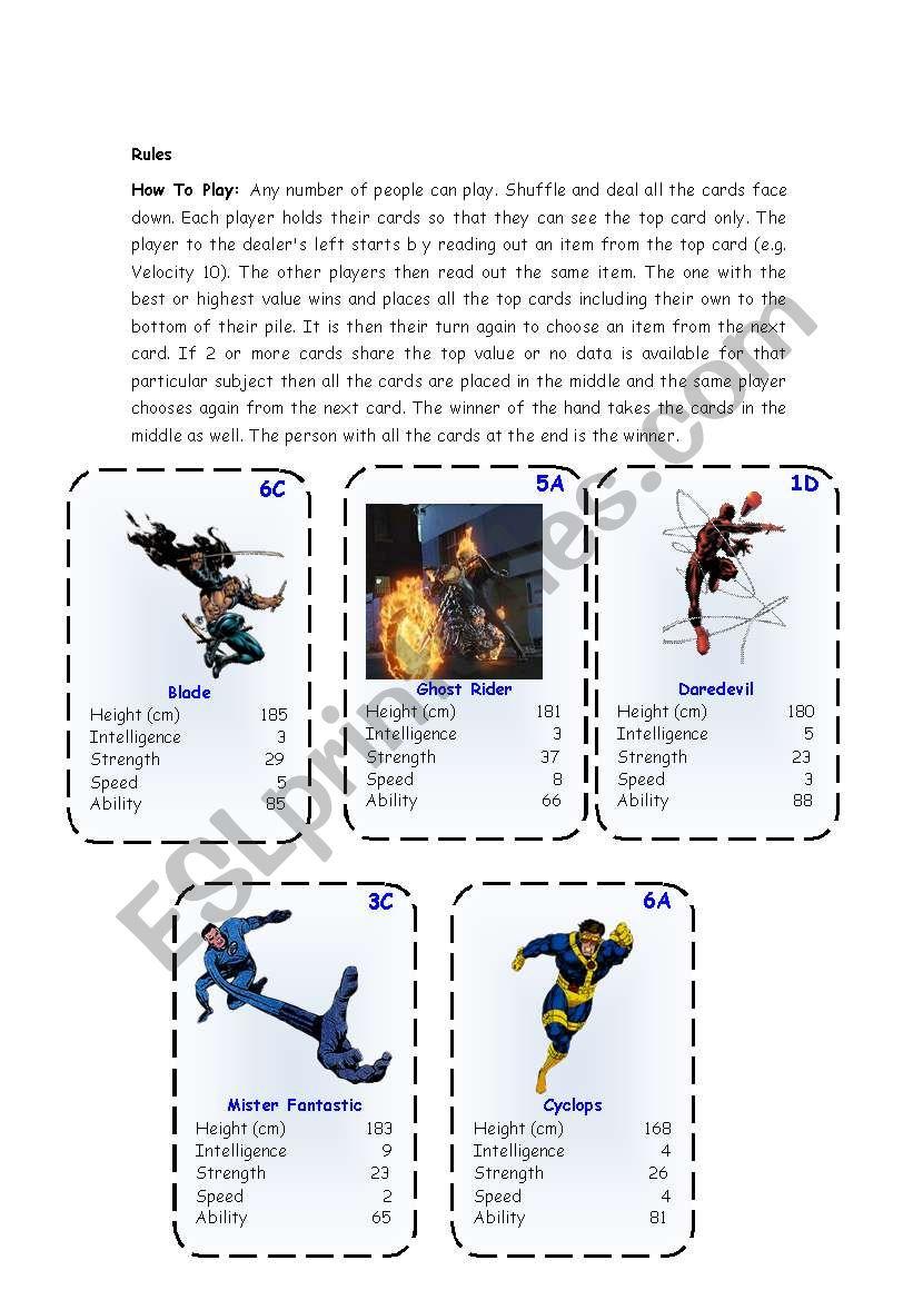 Top Trump Cards - Marvel Heroes 3-3