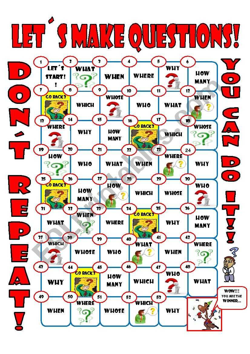 question review boardgame worksheet