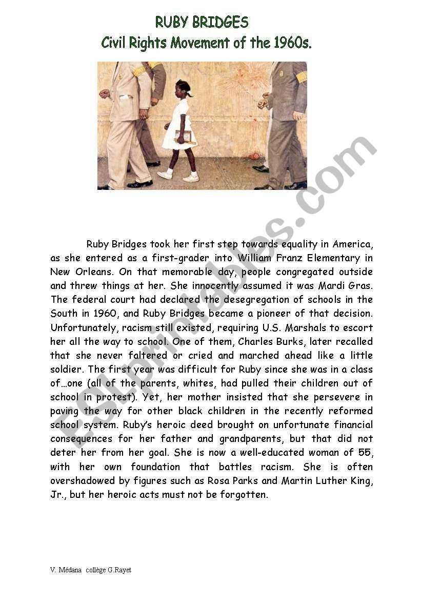 FACT FILE for Painting Norman Rockwell  Segregation at school