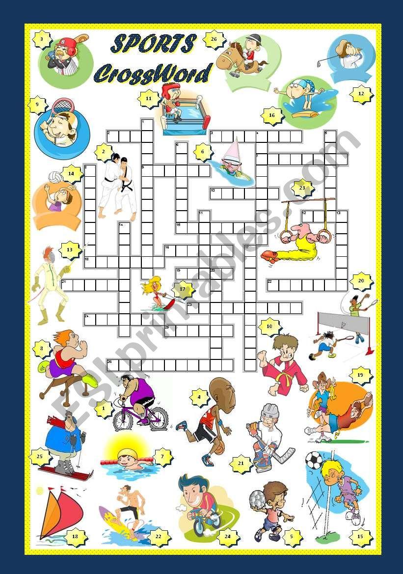 SPORTS - CROSSWORD worksheet