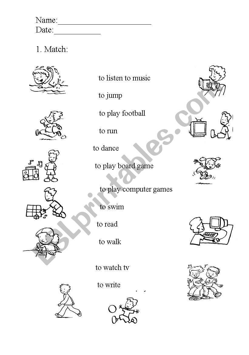 Action worksheets worksheet