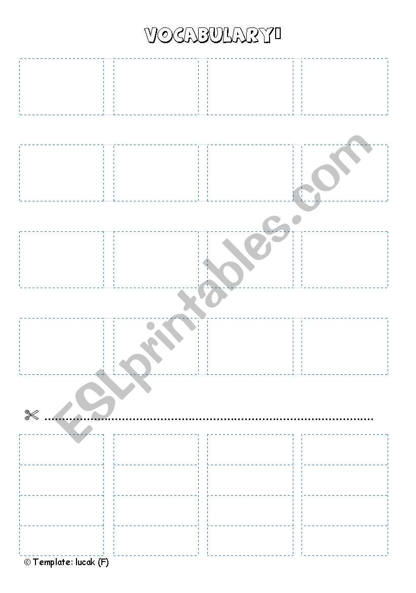 CUT AND PASTE TEMPLATE blue worksheet