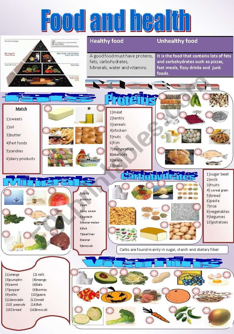 Where is the main food group found?
