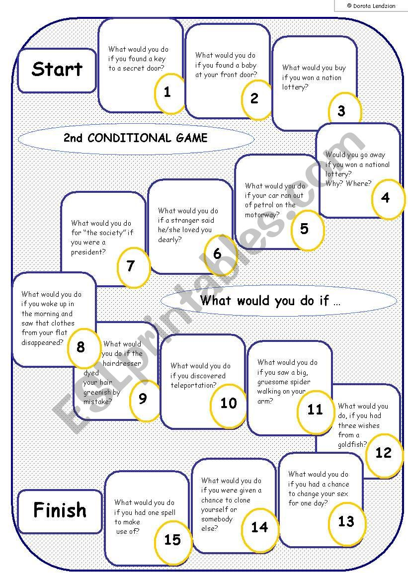 2nd CONDITIONAL - BOARD GAME worksheet