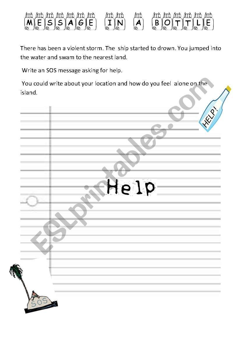 SOS  MESSAGE worksheet