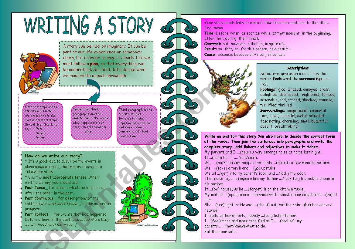 How to write a story worksheet