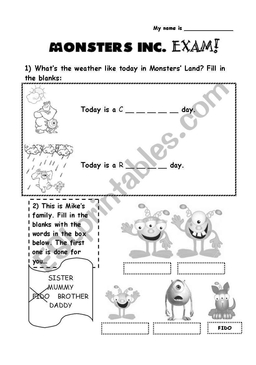 TEST (Elementary Level) worksheet