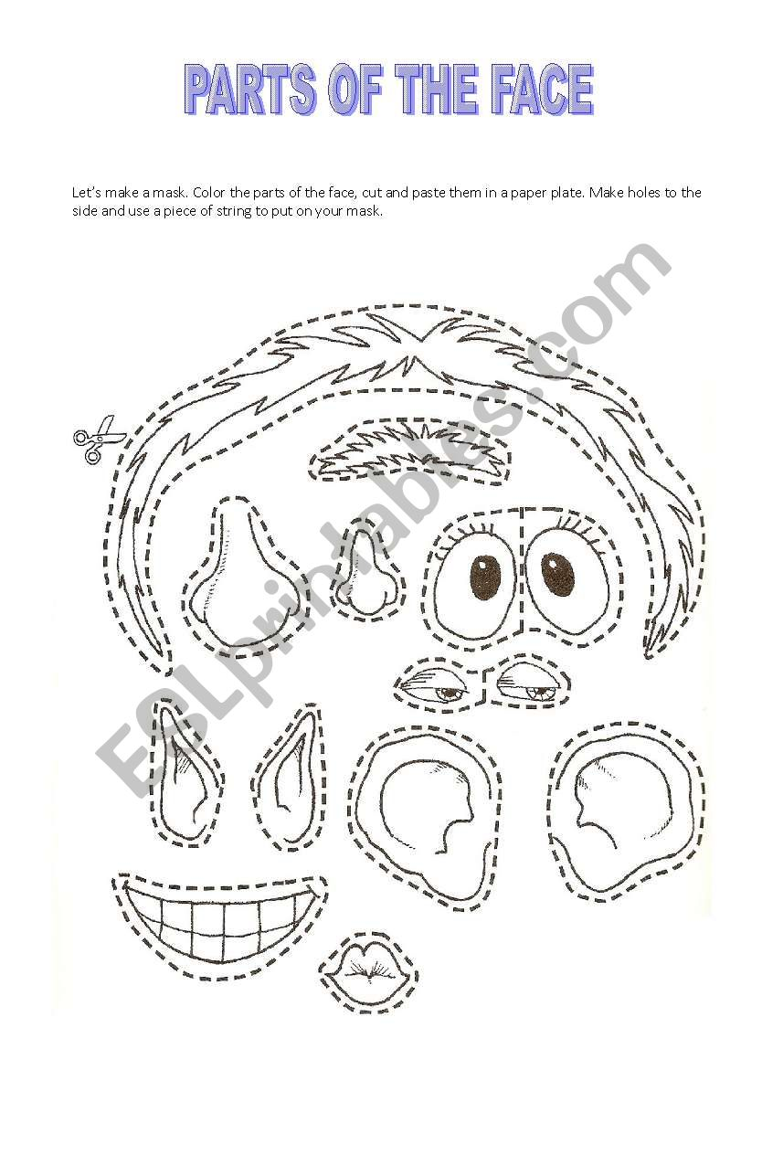 This is a picture of Refreshing Printable Face Parts