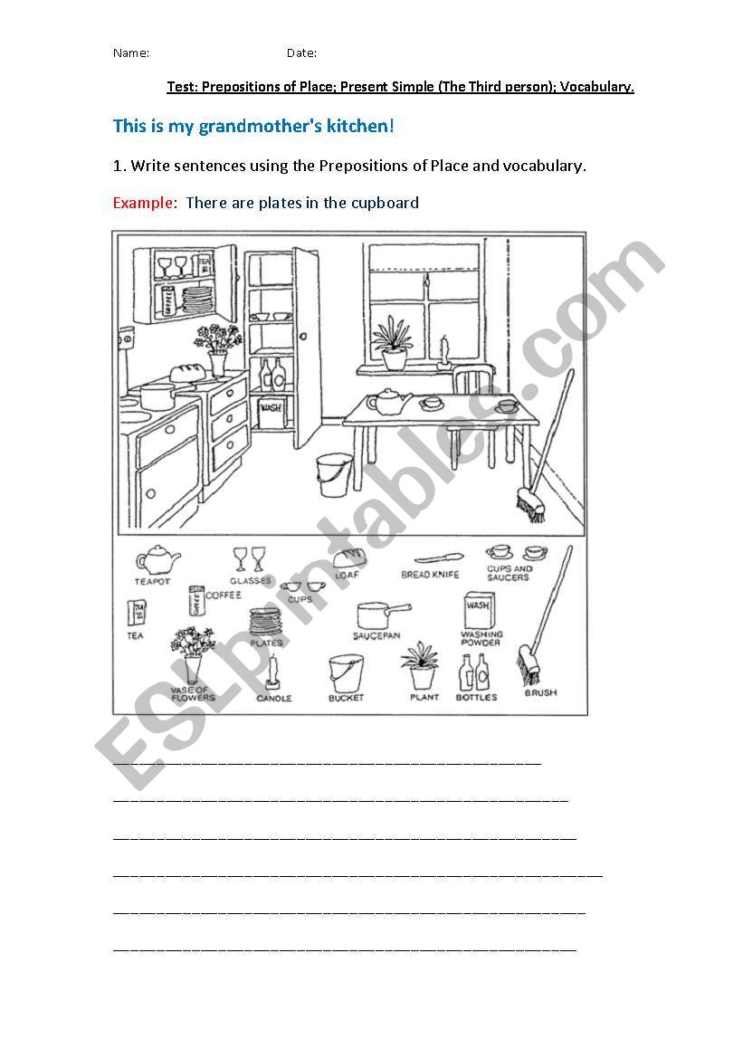 Test prepositions of place present simple the third person test prepositions of place present simple the third person vocabulary ibookread Read Online