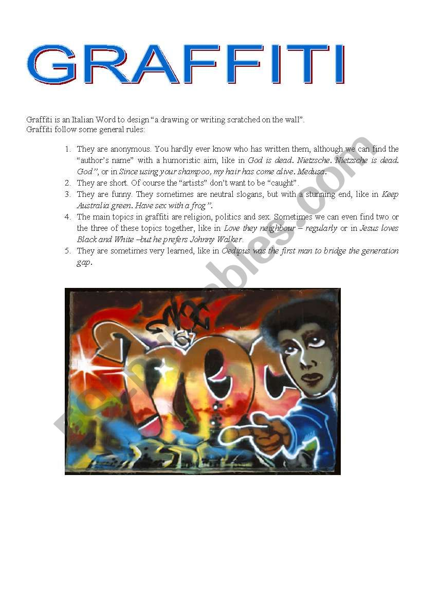 Graffiti worksheet