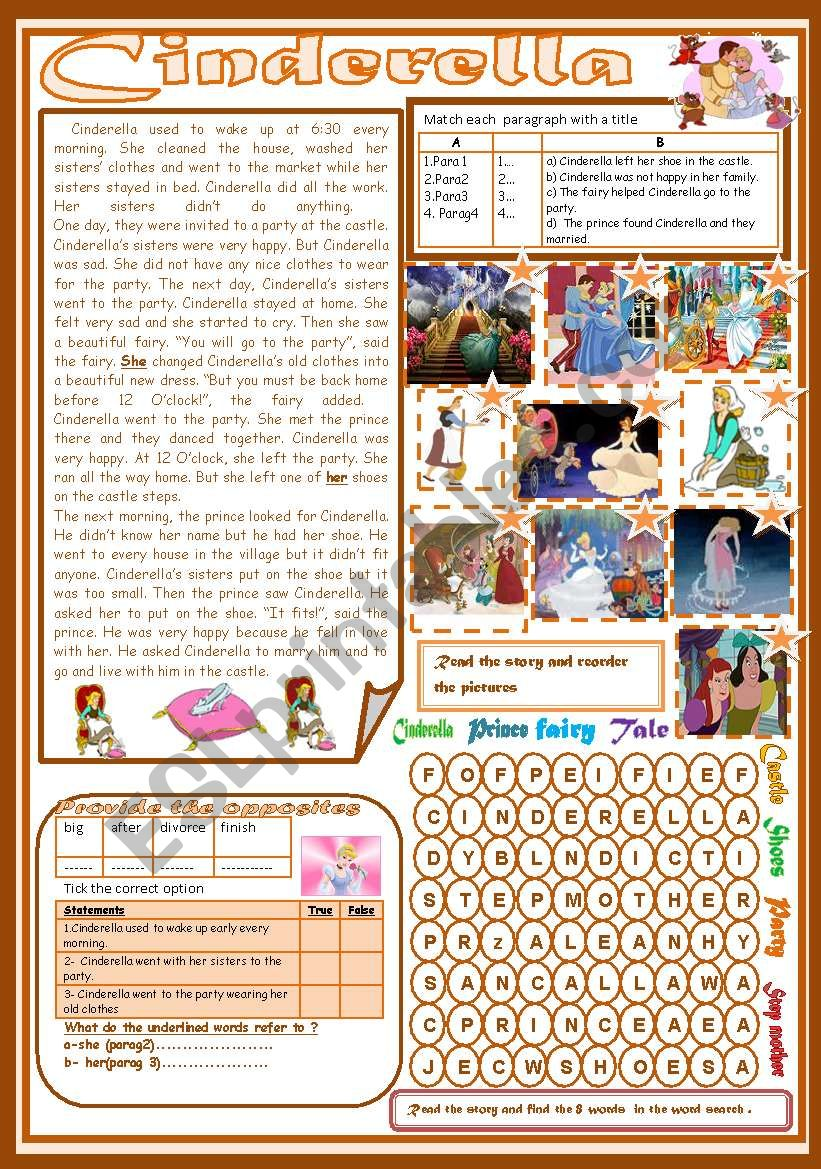 Cinderella(Totally Editable) worksheet