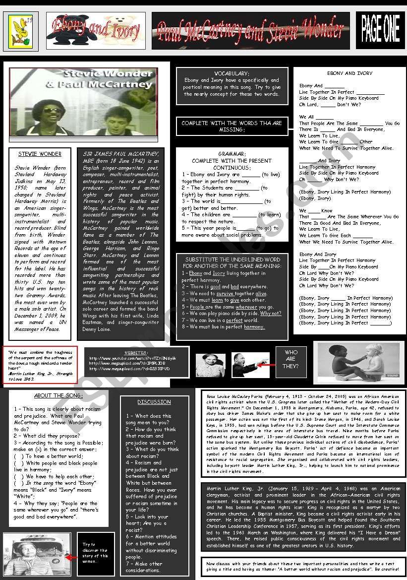 EBONY AND IVORY - PAUL McCARTNEY AND STEVIE WONDER - PART 01
