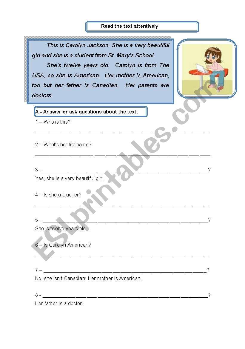 Carolyn Jackson - reading for elementary students