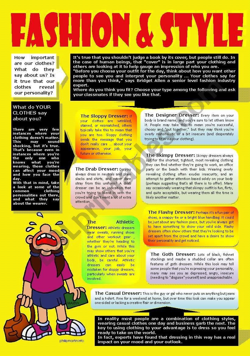 FASHION (Part 2) worksheet