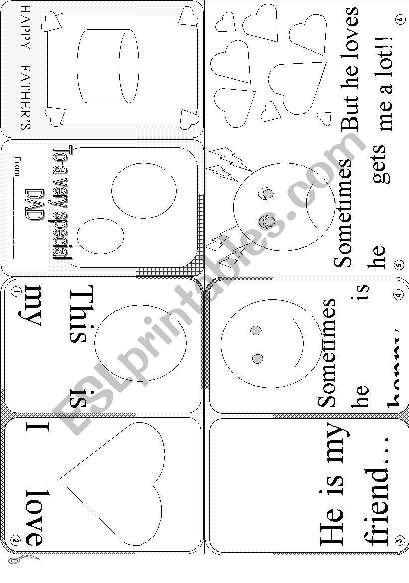 FATHER´S DAY MINI BOOK worksheet