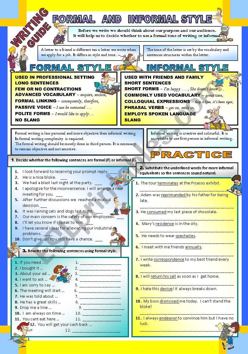 Writing - Formal and Informal Style