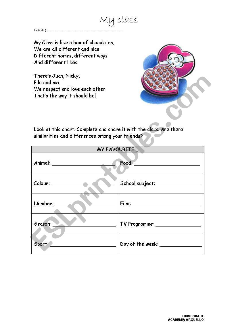 We are all Different! worksheet