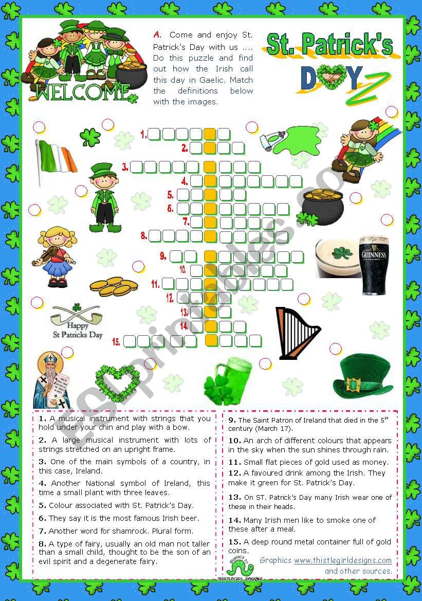 St. Patrick´s Day Set   (4)  - Crossword Puzzle
