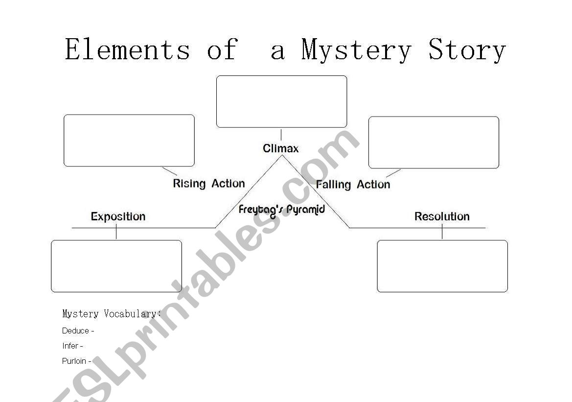 worksheet Elements Of The Short Story Worksheet english worksheets elements of a mystery story worksheet