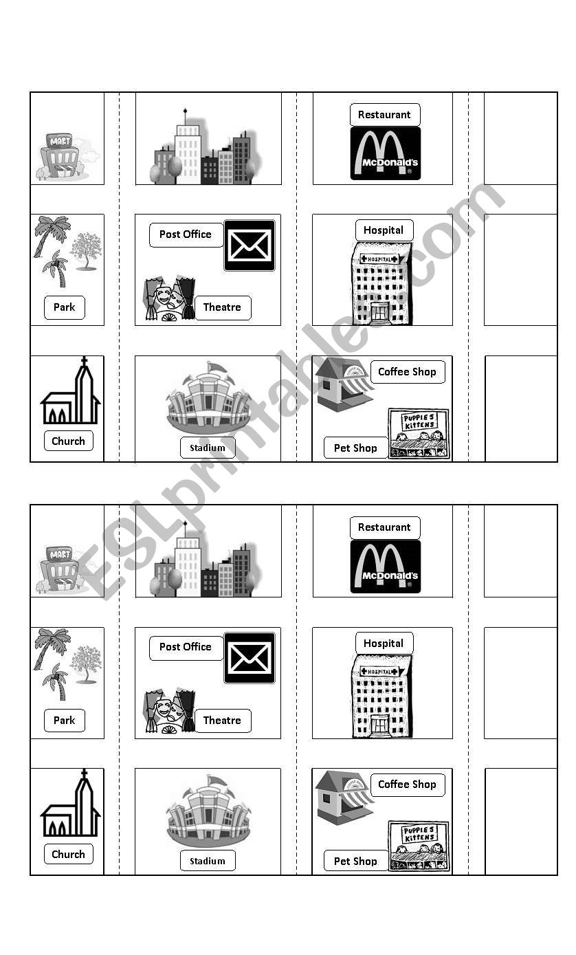 city map esl worksheet by zupradyn. Black Bedroom Furniture Sets. Home Design Ideas