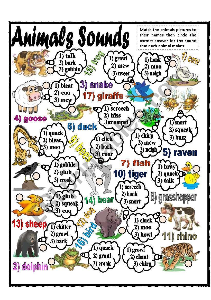 Animals Sounds (part 2) worksheet
