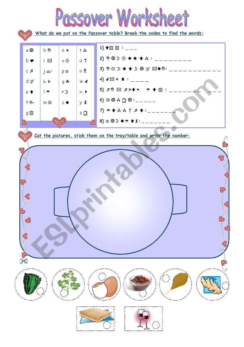 Passover Worksheet - ESL worksheet by Aimee/S.