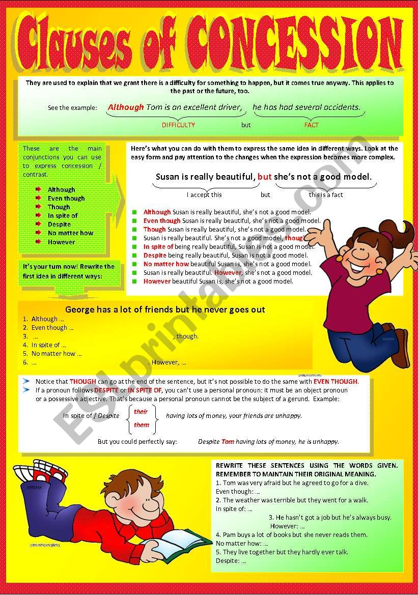 CLAUSES OF CONCESSION worksheet