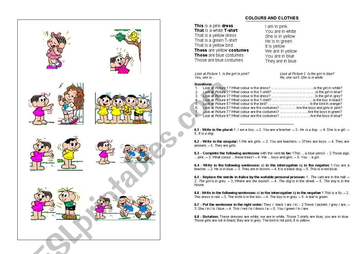 Colours and Clothes worksheet