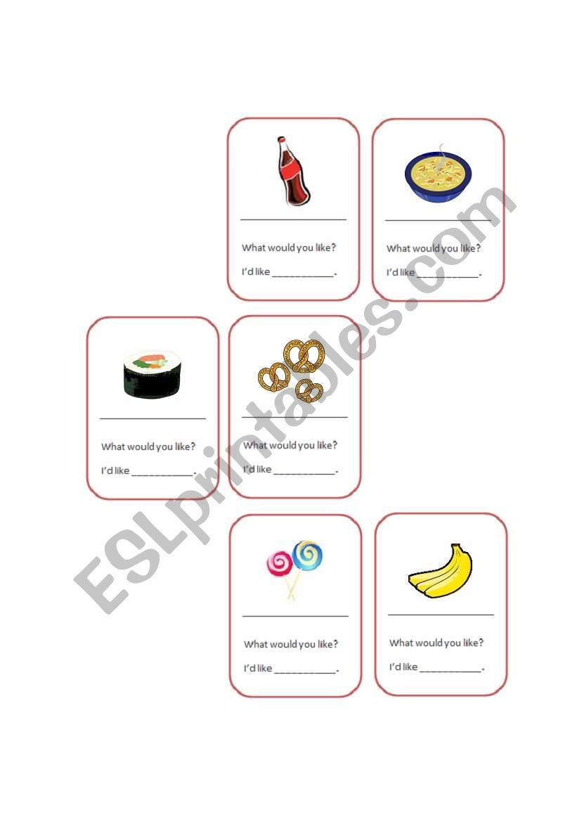 Food & Quantifiers_Some, a, an_ Cards game