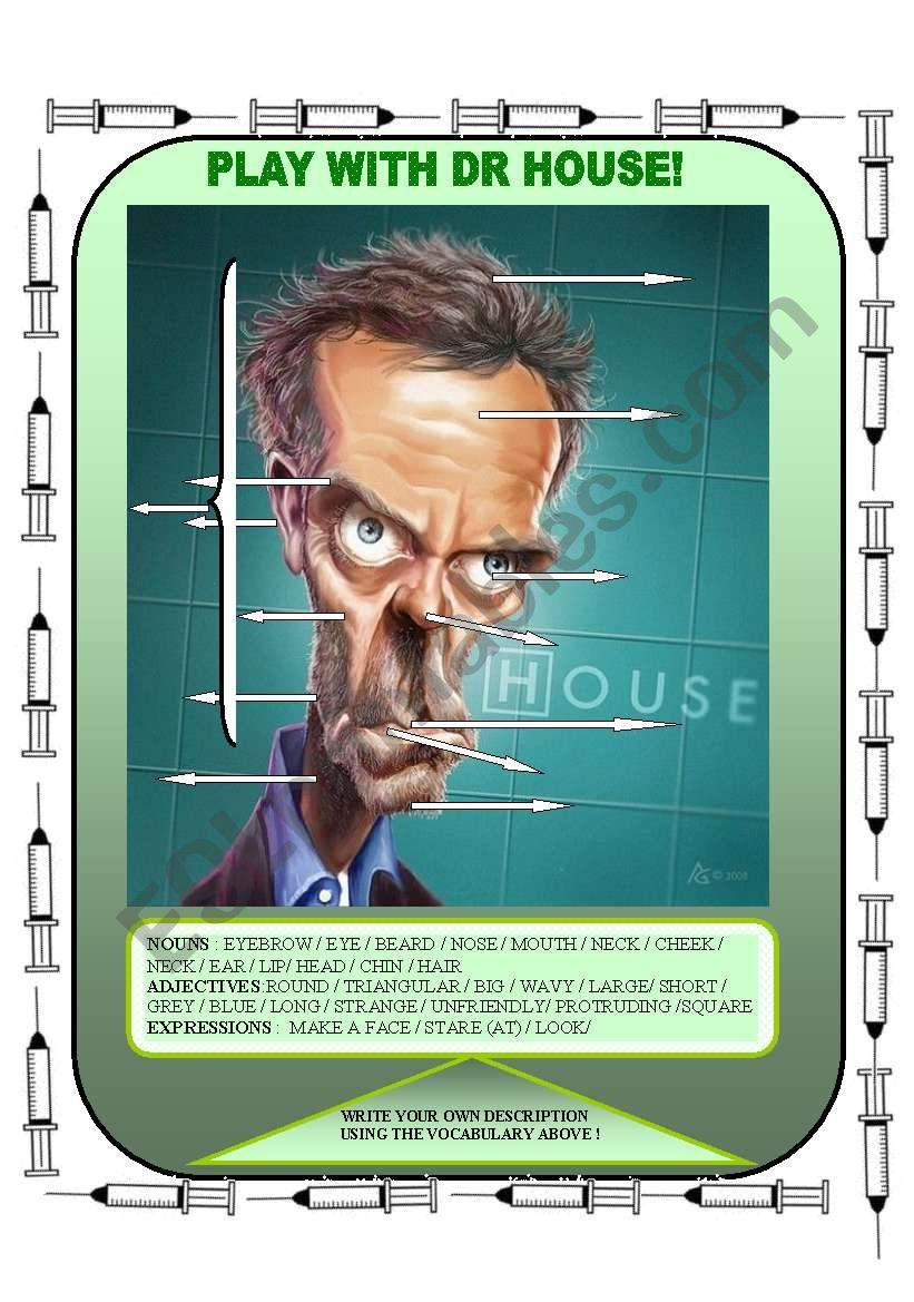 Physical description Dr House worksheet