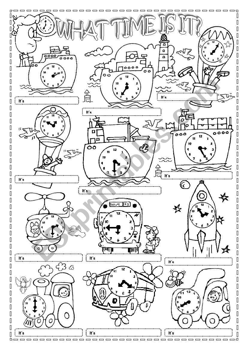 WHAT TIME IS IT?(2) worksheet