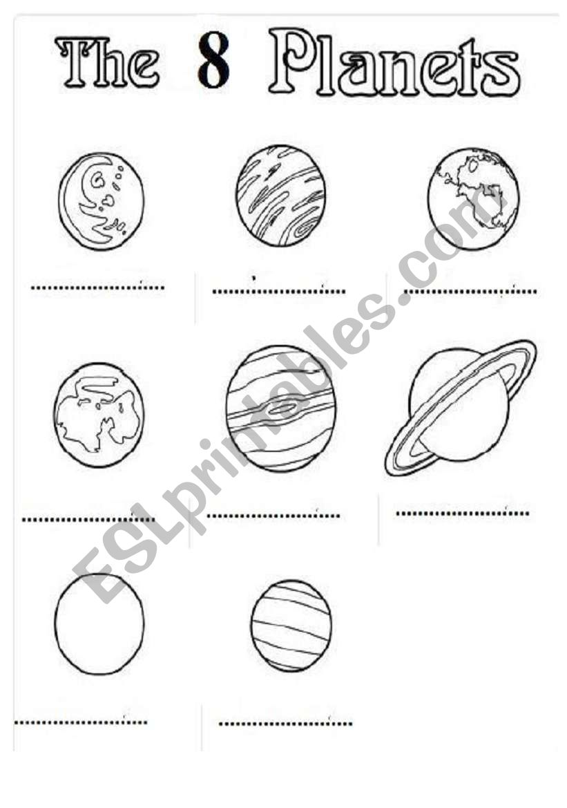Printable Planets Acrostic Poem — Printable Treats.com