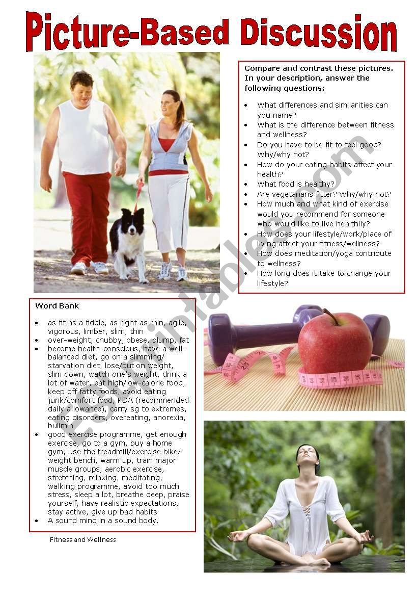 Picture-Based Discussion (40): Fitness and Wellness