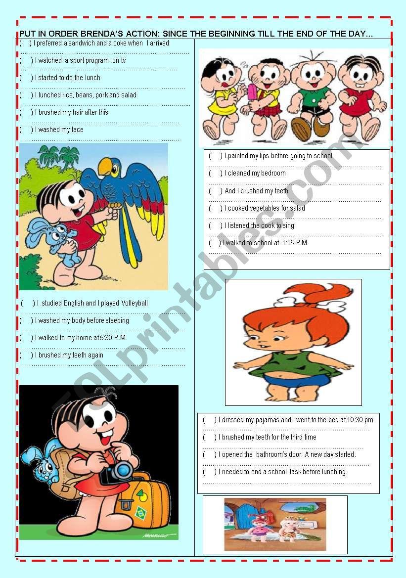 Brendha´s  daily routine worksheet