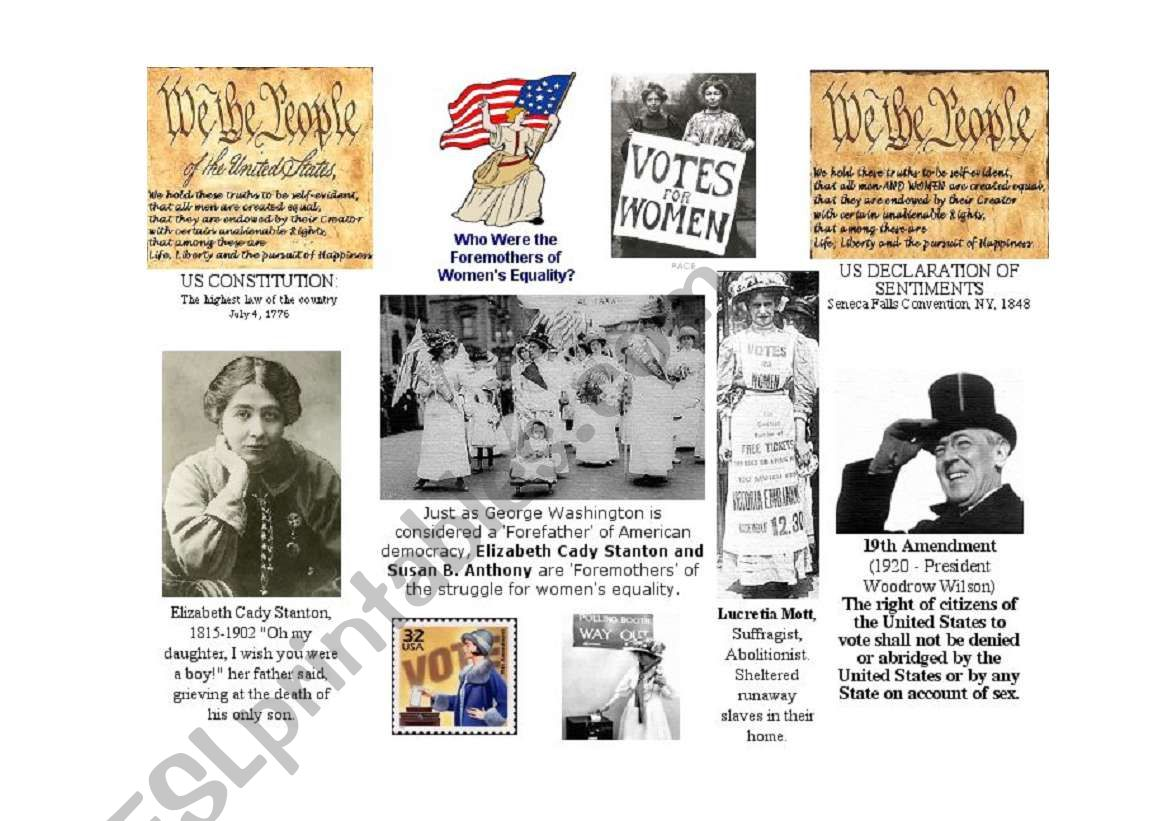 Women´s history month  worksheet