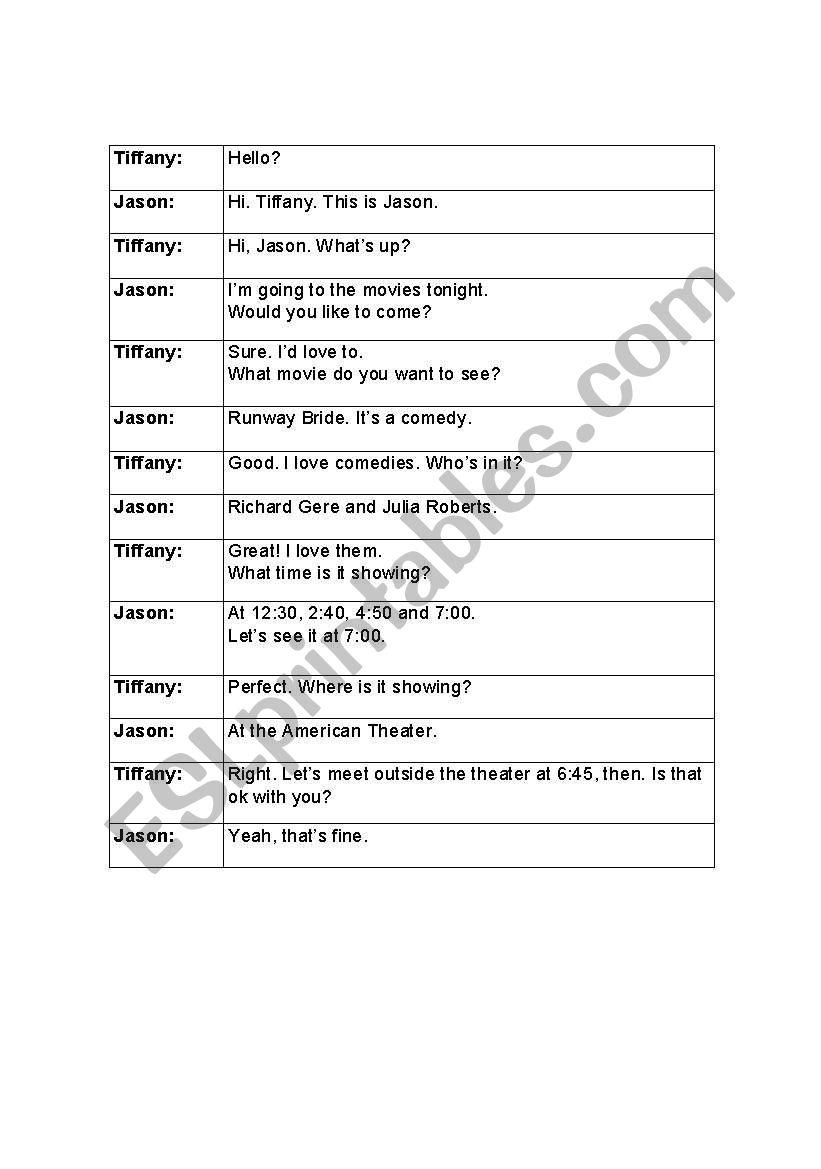 English worksheets invitations unscramble the dialogue invitations unscramble the dialogue stopboris Choice Image