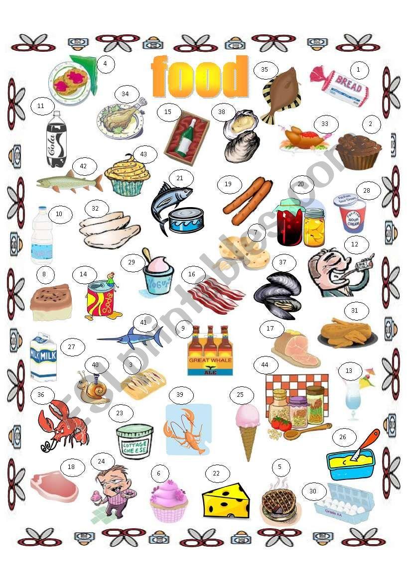 food (general), food in supermarket, key included