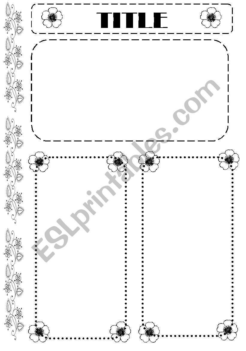 Worksheet template (editable) worksheet