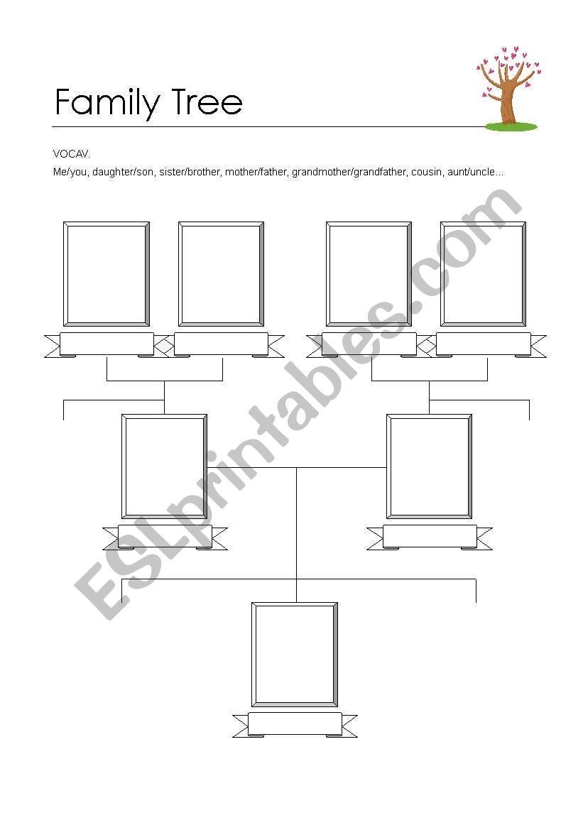 Blank Family Tree Worksheet Esl Proga Info