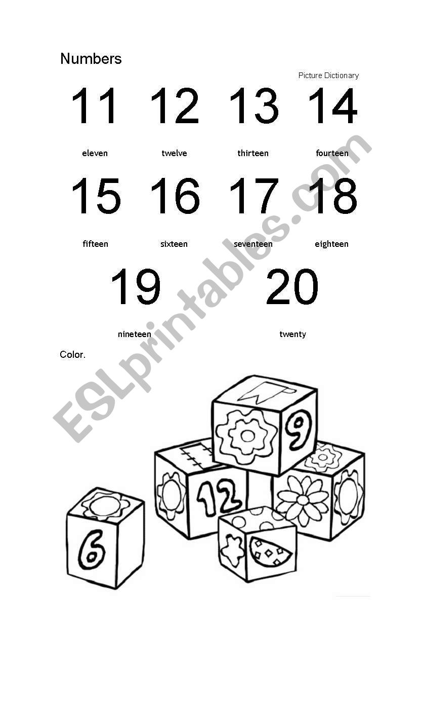 numbers and colors worksheet